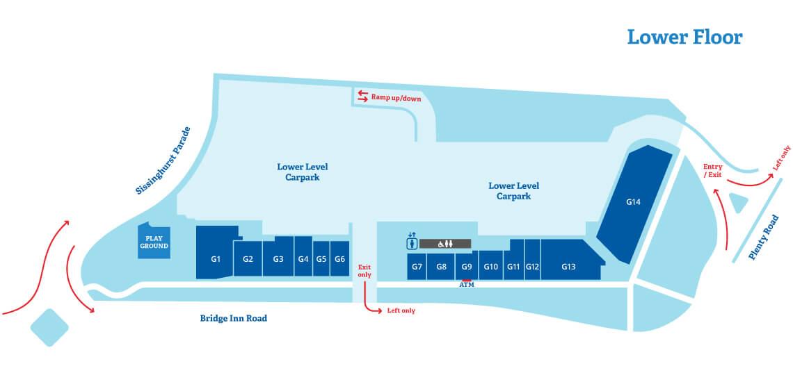 Lower floor - Map